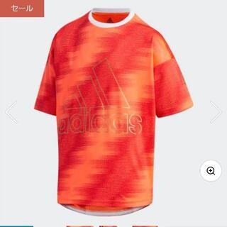 アディダス(adidas)の【新品】【サイズ:140】adidasキッズTシャツ(インスパイア赤)(Tシャツ/カットソー)