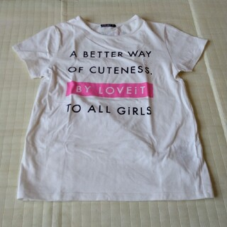 Tシャツ 女児 150 白(Tシャツ/カットソー)