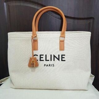 celine - CELINE ホリゾンタル キャンバス トート バック