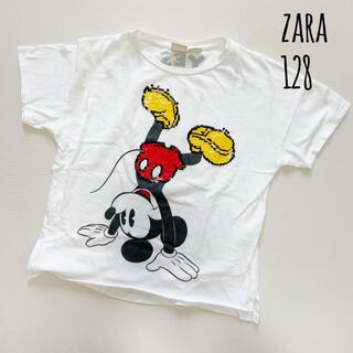 ザラ(ZARA)の120 130 ZARA ミッキー 色が変わる スパンコール Tシャツ(Tシャツ/カットソー)