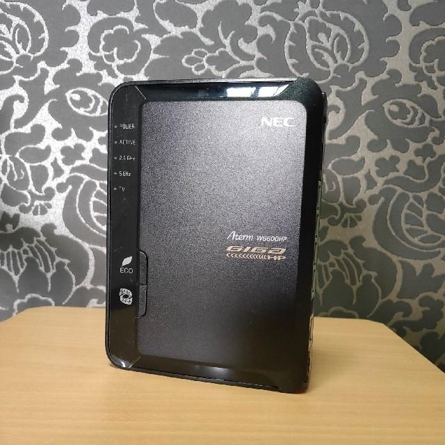 NEC(エヌイーシー)のNEC無線ルーター  PA-WG600HP  スマホ/家電/カメラのPC/タブレット(PC周辺機器)の商品写真