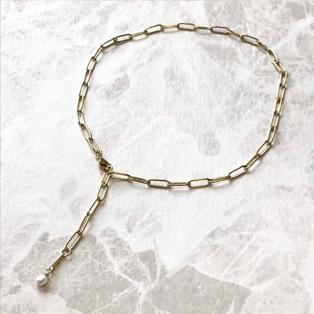 TODAYFUL(トゥデイフル)のトレンド リンクチェーン バロック パール 淡水パール チェーン  ネックレス  レディースのアクセサリー(ネックレス)の商品写真