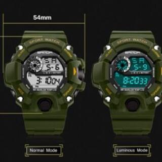 2021NEW緑◆デジタルビッグフェイス ダイバーズウォッチメンズ腕時計(腕時計(デジタル))
