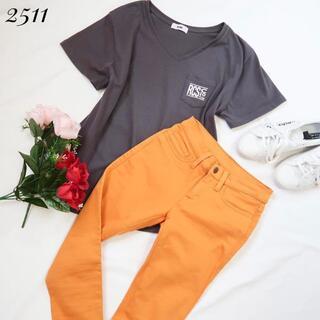 アズールバイマウジー(AZUL by moussy)の2511 【トップス×パンツ】ビッグロゴカラースキニー(Tシャツ(半袖/袖なし))