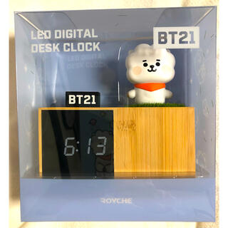 ボウダンショウネンダン(防弾少年団(BTS))のBT21 RJ ジン ソクジン LEDデジタル時計 置き時計(アイドルグッズ)