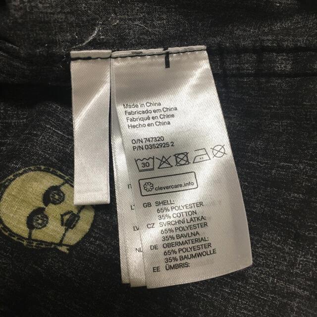 H&M(エイチアンドエム)の【古着】スターウォーズ子供服110長袖シャツ春秋H&Mブラック黒STARWARS キッズ/ベビー/マタニティのキッズ服男の子用(90cm~)(Tシャツ/カットソー)の商品写真