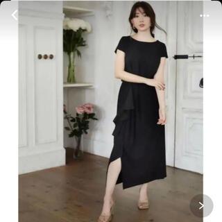 herlipto asymmetric ruffled jersey dress