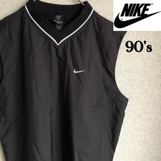 NIKE - 90s NIKE ナイロン ベスト 刺繍 ナイキ ブラック Mサイズ 90's