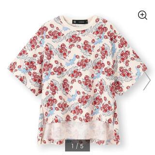 ジーユー(GU)のスリットチュニックT(5分袖)UNDERCOVER +X 完売品(Tシャツ/カットソー(半袖/袖なし))