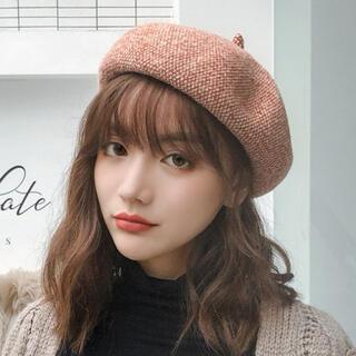 ベレー帽 帽子 レディース 秋冬 シンプル おしゃれ ベルベット ベロア(ハンチング/ベレー帽)