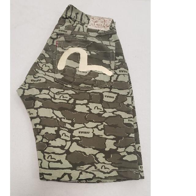 EVISU(エビス)のEVISU エヴィス 迷彩 ハーフパンツ メンズのパンツ(デニム/ジーンズ)の商品写真