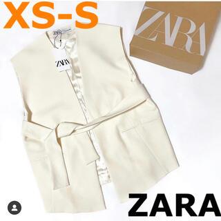 ZARA - 【ZARA】ザラ XS-S ベルテッド オーバーサイズ ベスト