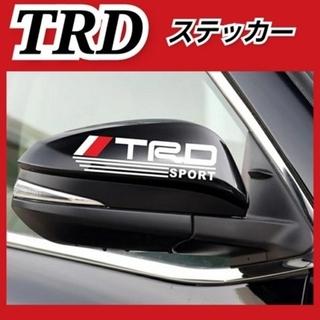 【TOYOTA TRD】サイドミラーステッカー(ホワイト左右)(車外アクセサリ)