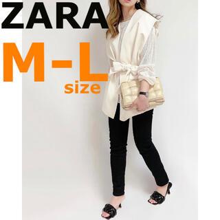 ザラ(ZARA)の【ZARA】ザラ M-L ベルテッド オーバーサイズ ベスト ジレ(ベスト/ジレ)