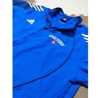 アディダス(adidas)の☆adidas アディダス ウインドブレーカー ナイロンジャケット ブルー(ナイロンジャケット)