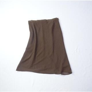 ニジュウサンク(23区)の23区 ブラウン スカート(ひざ丈スカート)