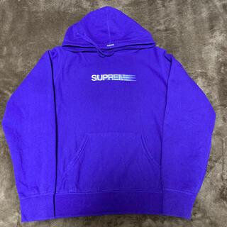 Supreme - supreme motion logo hooded 紫 パープル