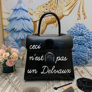 Drawer - デルボーハンドバッグ ブリヨン レザー ブラック