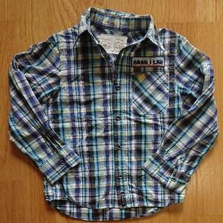 ハンテン(HANG TEN)のHANG TEN 130 チェックシャツ 青系(ブラウス)