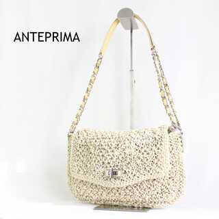 アンテプリマ(ANTEPRIMA)のアンテプリマ★ワイヤーバッグ チェーンバッグ ハンドバッグ フォーマル 白×黄(ハンドバッグ)