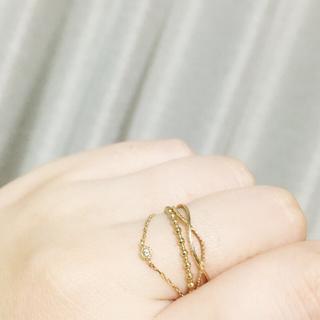 エテ(ete)のK10♡ブラウンダイヤチェーンリング(リング(指輪))