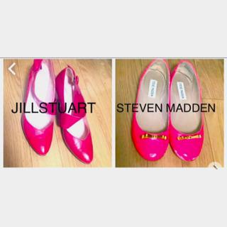 JILLSTUART - 赤、チェリー色の靴♡ 【ジルスチュアート】【スティーブンマデン】2足セット!