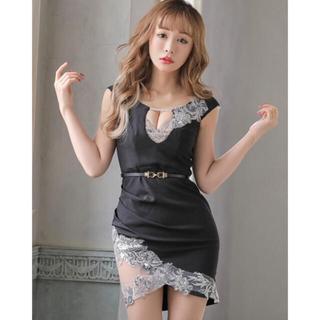 JEWELS - jewels スパンコール刺繍レイヤード風ドレス