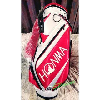 ホンマゴルフ(本間ゴルフ)の着払い キャディバッグ 9型 CB52007 レッド/ホワイト ゴルフ(ゴルフ)