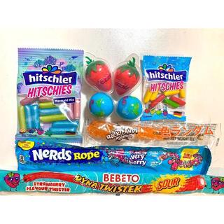 ASMR 韓国お菓子 地球グミ ロックキャンディ ナーズロープグミ ヒッチーズ