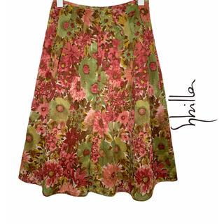 シビラ(Sybilla)の【Sybilla】シビラ・花柄フレアスカート(ひざ丈スカート)