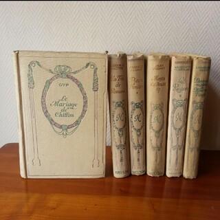 shiro様専用 14 ネルソン 1冊 金文字 フランス 古書 アンティーク 本(書)