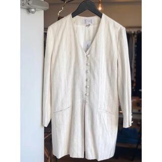 エディットフォールル(EDIT.FOR LULU)のmade in France linen long jacket (ノーカラージャケット)