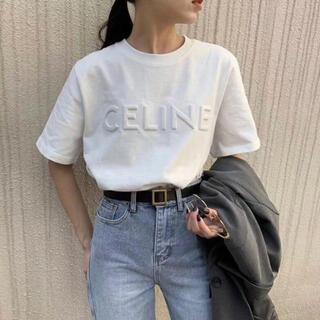 韓国ファッション  レディース  立体 刺繍 英字  Tシャツ