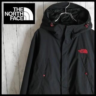 THE NORTH FACE - 【廃盤カラー】ノースフェイス スクープジャケット マウンテンパーカー 黒赤 良好