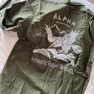 アルファインダストリーズ(ALPHA INDUSTRIES)のAlpha  刺繍シャツ(シャツ)