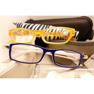 老眼鏡 2E +2.0 2個セット アニマル柄カバー付き おまけケース3個付(サングラス/メガネ)