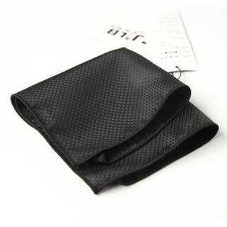ブラック ハンカチーフ ポケットチーフ ネクタイ タイピン 24cm×24cm(ハンカチ/ポケットチーフ)