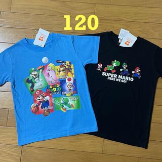 新品☆120cm マリオ Tシャツ 2枚 トップス 半袖
