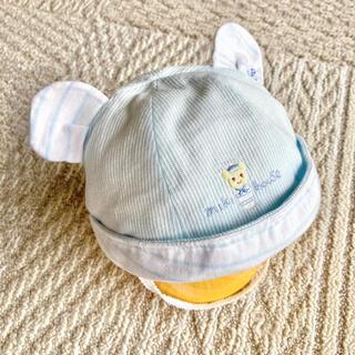 ミキハウス(mikihouse)の美品☆ミキハウス ファースト耳つき帽子(帽子)