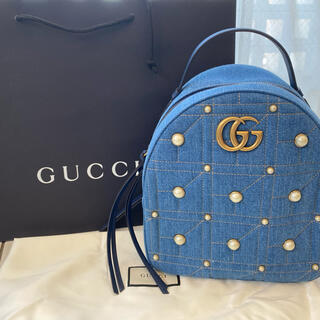 Gucci - 5月15日までお取り置き中⭐︎新品未使用☆GUCCI デニム リュック