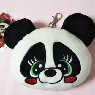 チェリッチュ・ぬいぐるみ型パスケース パンダ(リール付き)(定期入れ)