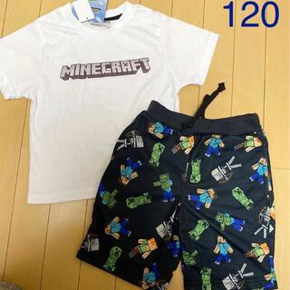 新品 マイクラ tシャツ 120 ハーフパンツ 上下セット セットアップ 男の子