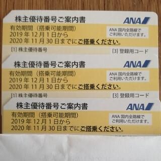 エーエヌエー(ゼンニッポンクウユ)(ANA(全日本空輸))のANA 株主優待 三枚 2021年5月31日まで延長(その他)