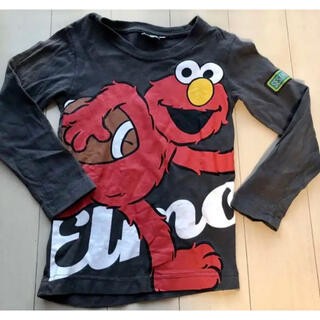 セサミストリート(SESAME STREET)の【エルモ ロングTシャツ】110サイズ(Tシャツ/カットソー)