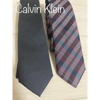 カルバンクライン(Calvin Klein)のCalvin Klein カルバンクライン ck チェック ドット ネクタイ(ネクタイ)