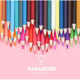 ◯9 水溶性 色鉛筆 48色 水彩色鉛筆 水彩画 塗り絵 絵の具(色鉛筆)
