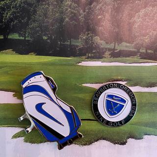 ナイキ(NIKE)のNike (ナイキ) バッグ型のクリップ付きゴルフボールマーカー 青色(その他)