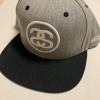 STUSSY - stussy キャップ 帽子 ロゴ グレー ブラック ストリート supreme