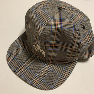 STUSSY - stussy チェック柄 キャップ 帽子 ロゴ ストリート系 supreme
