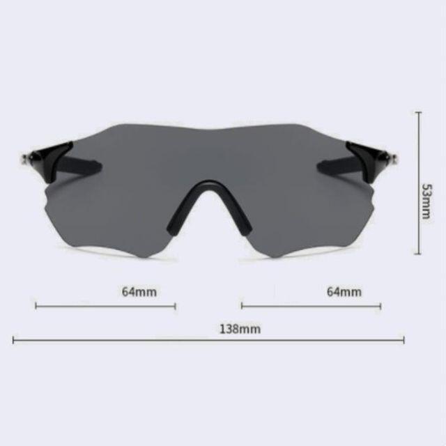 サイクリング メガネ UV400 紫外線カット 超軽量 耐衝撃 サングラス黒 メンズのファッション小物(サングラス/メガネ)の商品写真
